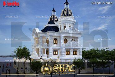 BIA Mẫu thiết kế nhà biệt thự lâu đài đẹp tại Nam Định SH BTLD 0023