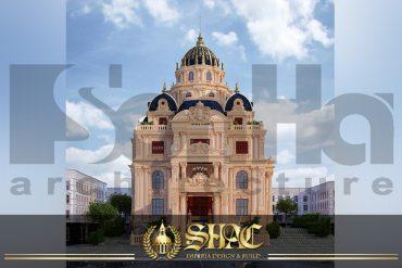 BIA Thiết kế biệt thự lâu đài cổ 2 mặt tiền tại Sài Gòn SH BTLD 0039