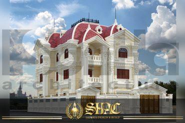 BIA Thiết kế kiến trúc biệt thự lâu đài tại Quảng Ninh SH BTLD 0022