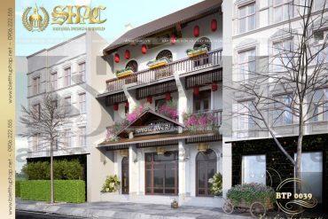 1 Thiết kế biệt thự cổ điển kết hợp kinh doanh tại quảng ninh sh btp 0039