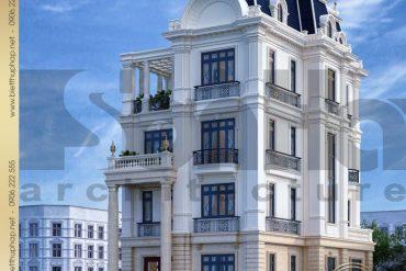 1 Thiết kế biệt thự tân cổ điển đẹp tại đà nẵng sh btcd 0042