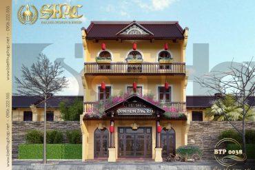 1 Thiết kế phương án 1 biệt thự cổ điển kết hợp kinh doanh tại quảng ninh sh btp 0124
