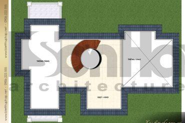 12 Mặt bằng công năng tầng áp mái biệt thự 3 tầng đẹp khu đô thị vinhomes hải phòng sh btcd 0043