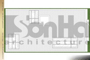 12 Mặt bằng công năng tầng mái biệt thự pháp 3 tầng tại quảng ninh sh btp 0124