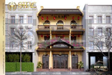 2 Mẫu thiết kế biệt thự cổ điển 3 tầng đẹp tại quảng ninh sh btp 0039