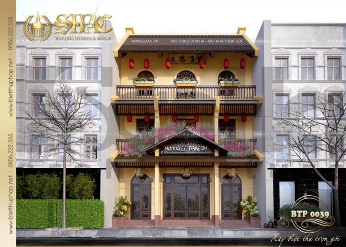 Thiết kế biệt thự kiến trúc Việt 3 tầng kết hợp kinh doanh tại Quảng Ninh