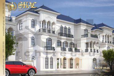 2 Mẫu thiết kế phương án 1 biệt thự tân cổ điển khu đô thị vinhomes hải phòng sh btcd 0043