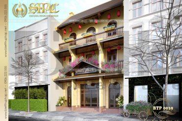 3 Thiết kế biệt thự cổ điển mặt tiền 9m đẹp tại quảng ninh sh btp 0039