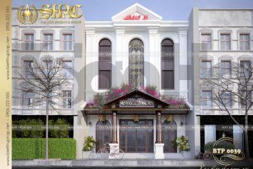 4 Mẫu thiết kế biệt thự cổ điển 3 tầng kết hợp kinh doanh tại quảng ninh sh btp 0039