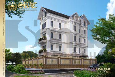4 Mẫu thiết kế biệt thự tân cổ điển đẹp tại hải phòng sh btp 0123