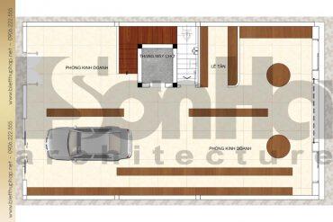 5 Mặt bằng công năng tầng 1 biệt thự cổ điển 3 tầng đẹp tại quảng ninh sh btp 0039