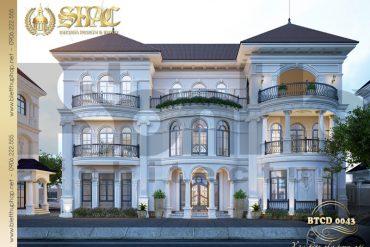 5 Thiết kế phương án 3 biệt thự tân cổ điển khu đô thị vinhomes hải phòng sh btcd 0043