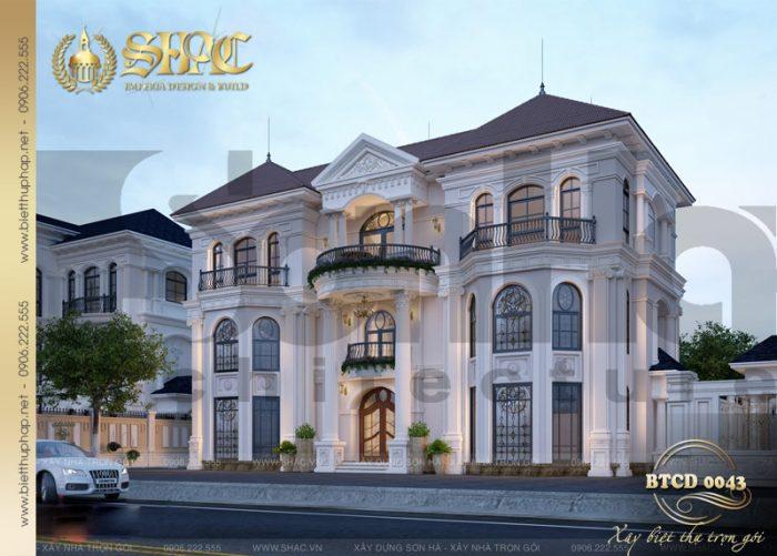 Thêm một phương án thiết kế kiến trúc biệt thự tân cổ điển mái thái 3 tầng tiện nghi tại phân khu VENICE
