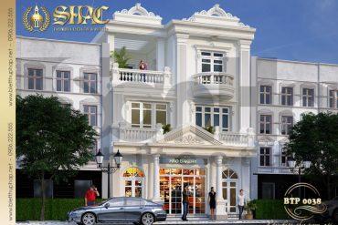 6 Mẫu thiết kế phương án 4 biệt thự cổ điển pháp tại quảng ninh sh btp 0124