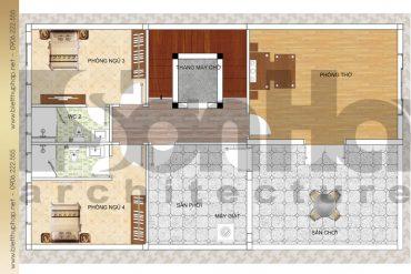 7 Mặt bằng công năng tầng 3 biệt thự cổ điển kết hợp kinh doanh đẹp tại quảng ninh sh btp 0039