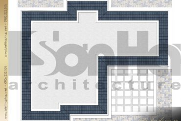 7 Mặt bằng công năng tầng mái biệt thự tân cổ điển tại đà nẵng sh btcd 0042
