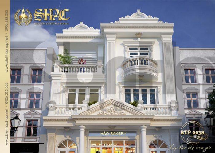 Chiêm ngưỡng từng đường nét kiến trúc tinh tế của ngôi biệt thự pháp kết hợp kinh doanh