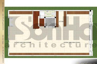 9 Mặt bằng công năng tầng 1 biệt thự cổ điển châu âu tại quảng ninh sh btp 0124