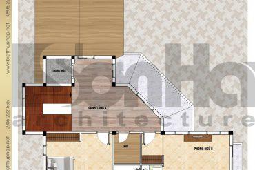 9 Mặt bằng công năng tầng 4 biệt thự tân cổ điển đẹp tại hải phòng sh btp 0123