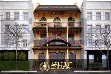 BÌA Thiết kế biệt thự cổ điển kết hợp kinh doanh mặt tiền 9m tại quảng ninh sh btp 0039