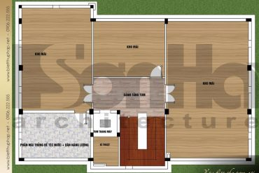 7 Mặt bằng công năng tầng áp mái biệt thự tân cổ điển 3 tầng tại quảng ninh sh btcd 0044
