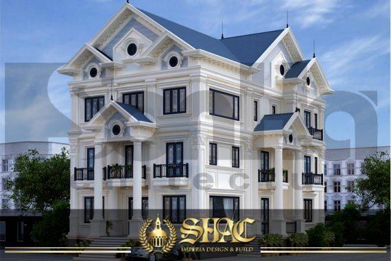 BÌA thiết kế biệt thự tân cổ điển 2 mặt tiền tại quảng ninh sh btcd 0044