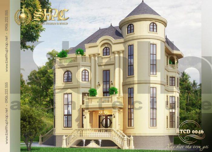 Với thiết kế kiến trúc độc đáo ngôi biệt thự tân cổ điển dễ dàng thu hút sự chú ý của đông đảo người dân địa phương