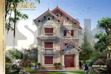 3 Thiết kế biệt thự tân cổ điển pháp 3 tầng mặt tiền 10m tại bắc ninh sh btcd 0045.jpg