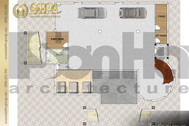 4 Mặt bằng công năng tầng hầm biệt thự tân cổ điển đẹp tại hà nội sh btcd 0046
