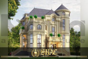 BÌA thiết kế biệt thự tân cổ điển 4 tầng 2 mặt tiền tại hà nội sh btcd 0046