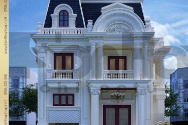 1 Thiết kế biệt thự tân cổ điển 2 mặt tiền 3 tầng đẹp tại sài gòn sh btcd 0047