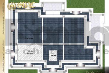 7 Mặt bằng công năng tầng mái biệt thự tân cổ điển 2 mặt tiền tại sài gòn sh btcd 0047