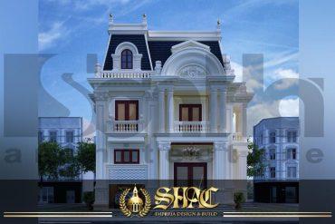 BÌA thiết kế biệt thự tân cổ điển 3 tầng 2 mặt tiền tại sài gòn sh btcd 0047