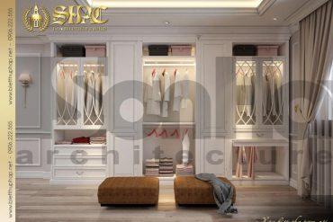 12 Mẫu nội thất khu thay đồ phòng ngủ con trai biệt thự tân cổ điển mặt tiền 18,3m tại sài gòn sh btcd 0048