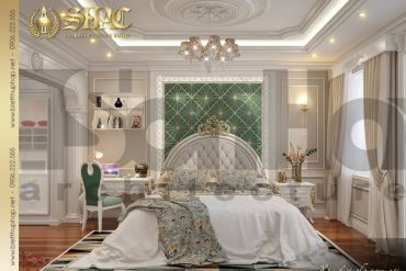 13 Thiết kế nội thất phòng ngủ con gái biệt thự tân cổ điển đẹp tại sài gòn sh btcd 0048