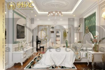 14 Mẫu nội thất phòng ngủ con gái biệt thự tân cổ điển 3 tầng tại sài gòn sh btcd 0048