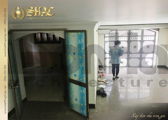 Khu phòng kho và giặt ohơi của ngôi biệt thự