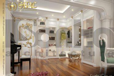15 Thiết kế nội thất khu thay đồ phòng ngủ con gái biệt thự tân cổ điển mặt tiền 18,3m tại sài gòn sh btcd 0048