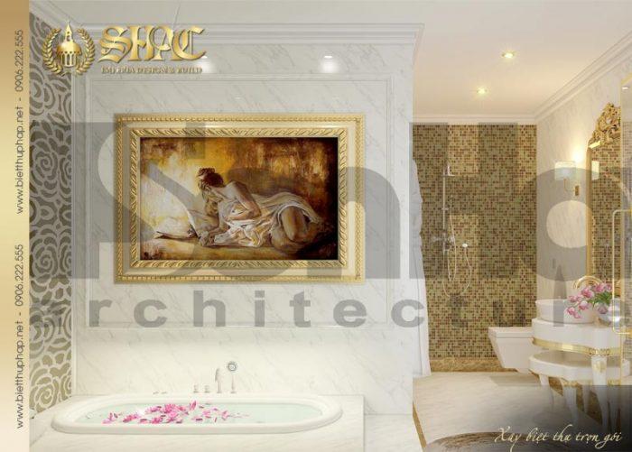 Mẫu phòng tắm – wc biệt thự tân cổ điển Châu Âu tại Sài Gòn