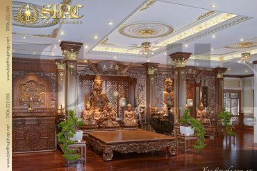 17 Thiết kế nội thất phòng thờ biệt thự tân cổ điển 3 tầng tại sài gòn sh btcd 0048