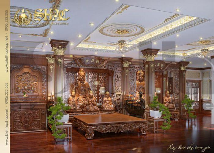 Thiết kế nội thất phòng thờ trang nghiêm, chuẩn phong thủy