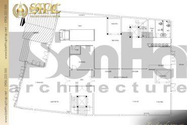 18 Mặt bằng công năng tầng trệt biệt thự tân cổ điển mặt tiền 18,3m tại sài gòn sh btcd 0048