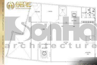 19 Mặt bằng công năng tầng lửng biệt thự tân cổ điển đẹp tại sài gòn sh btcd 0048