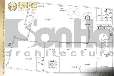 20 Mặt bằng công năng lầu 1 biệt thự phong cách cổ điển tại sài gòn sh btcd 0048