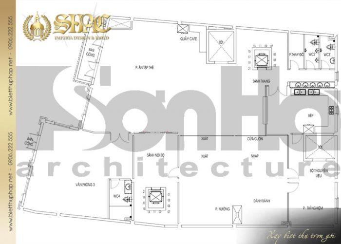 Chi tiết mặt bằng công năng tầng 1 biệt thự tân cổ điển Châu Âu diện tích 475,9m2 tại Sài Gòn