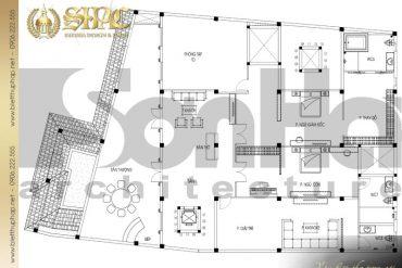 21 Mặt bằng công năng lầu 2 biệt thự tân cổ điển pháp tại sài gòn sh btcd 0048