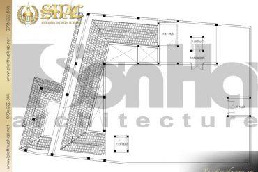 22 Mặt bằng công năng tầng mái biệt thự tân cổ điển diện tích 475,92m2 tại sài gòn sh btcd 0048