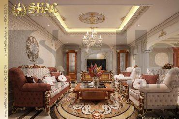 3 Thiết kế nội thất phòng khách biệt thự tân cổ điển đẹp tại sài gòn sh btcd 0048
