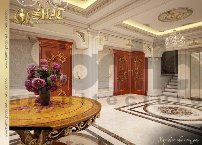 Phương án thiết kế sảnh thang biệt thự được chủ đầu tư đánh giá cao