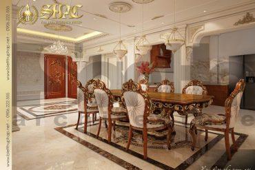5 Thiết kế nội thất phòng bếp ăn biệt thự tân cổ điển mặt tiền 18,3m tại sài gòn sh btcd 0048